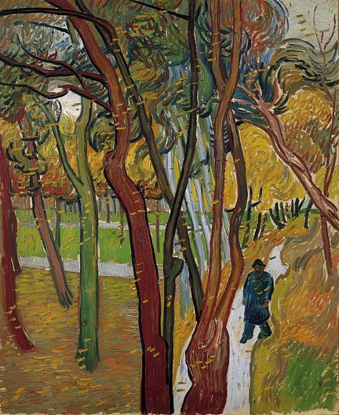 Vincent van gogh 1855 1890 le jardin de l 39 h pital saint paul chute des feuilles - Table jardin balcon saint paul ...